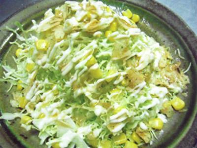 春キャベツのポテチサラダ
