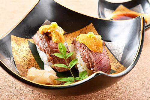 まいう~肉寿司 肉寿司 ウニ